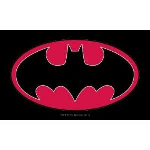 Batman Red Black Logo Oval Stickers Arts, Crafts & Sewing