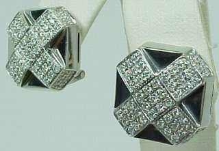 Designer Chimento 18K White Gold Diamond Earrings
