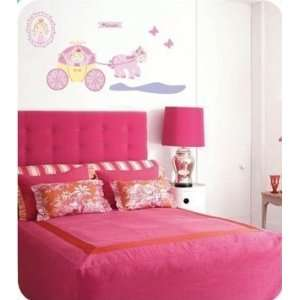 Large Princess Carriage Pink Wall Sticker Decal Ideal for