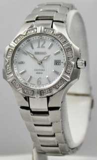 Ladies Stainless SteeL Diamond Seiko Coutura SXDC33 Date Watch