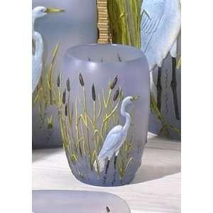 EGRET heron bird TUMBLER cup bathroom home decor Beauty