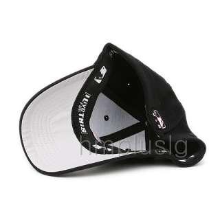 DETROIT TIGERS Flex Fit Baseball Cap Hat MB BLACK TPO
