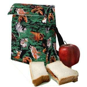 Wolf Bear Deer Lunch Bag: Kitchen & Dining