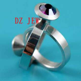 5pc Sz 6.5 11 Lady Fashion Style Hot Sell Stainless Steel Ring