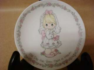 Precious Moments 1990 Plate Mini Sized Samuel J Butcher