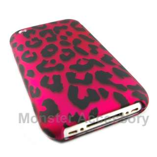 Pink Leopard Hard Case Cover For Apple iPhone 3G 3GS