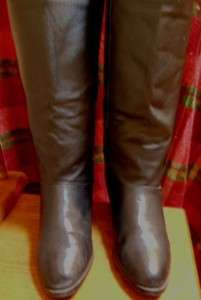 Bagatelle Size 9 Black Leather Womens Tall Riding Fashion Boots