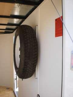 Custom R & P Aluminum Trailer Spare Tire Wall Mount Bracket
