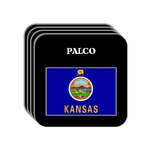 US State Flag   PALCO, Kansas (KS) Set of 4 Mini Mousepad