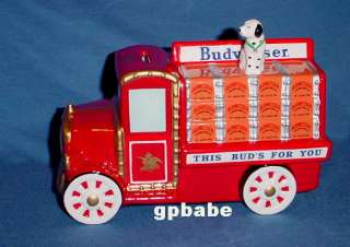 BUDWEISER Beer Delivery Truck BANK with Dalmatian Dog