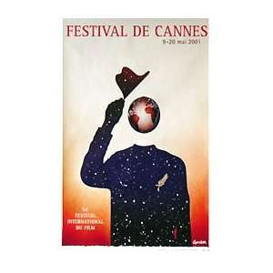 CANNES FILM FESTIVAL POSTER 2001 (FRENCH ROLLED) Movie