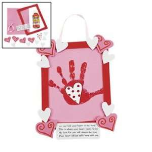 Handprint In Heart Keepsake Hanger Craft Kit   Craft Kits