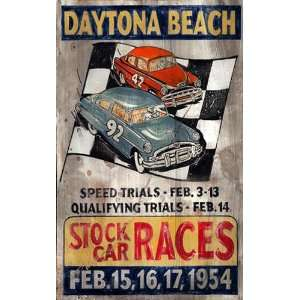 Customizable Daytona Beach Stock Car Races Vintage Style