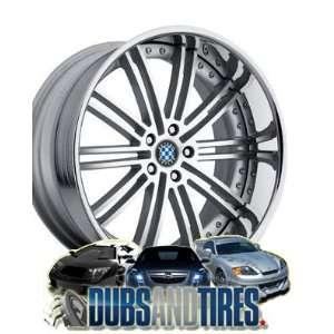 20 Inch 20x10 Beyern wheels BAROQUE Silver wheels rims