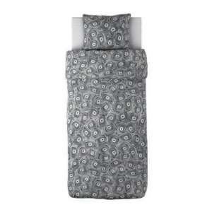Ikea Bibbi Snurr Twin Duvet Cover & Sham Black & White