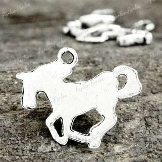 50pcs Tibetan Silver Horse animal Charm Pendants TS0504
