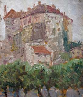 CAMILLE BOUCHARD (1889 1973) FRENCH IMPRESSIONIST OIL   CHATEAU