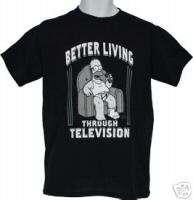 The Simpsons HOMER Better Living Through TV MEN SHIRT