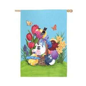 Easter Portly Birds Banner: Patio, Lawn & Garden