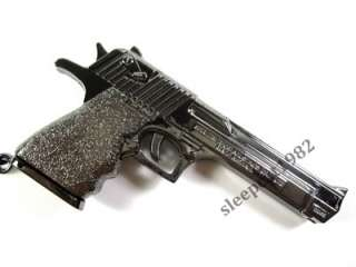 Black Desert Eagle Pistol Gun Model Military Weapon Metal KeyRing Key