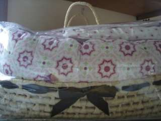 WENDY BELLISSIMO Pink 3 pc Crib Set linens Basket NEW