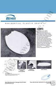 Bemis 1200TC 144 Elongated Toilet Seat New Orleans Blue