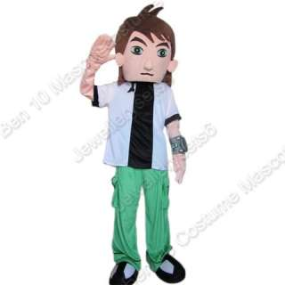 Ben 10 Costume Mascot Adult Cartoon Costume Fancy Dress