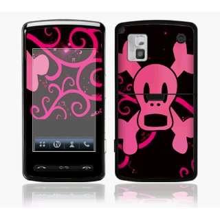 LG VU CU920 Skin Decal Sticker   Pink Screaming Crossbones~