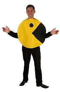 Pac Man 2D Profile Adult Costume Standard *New*