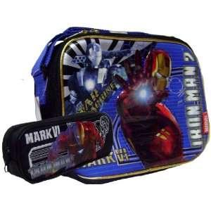 War Machine Iron Man Lunch Box Free Black Pencil Case Toys & Games