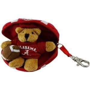 Crimson Tide Hidden Plush Bear Football Keychain