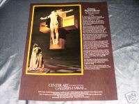 Corpus Hypercubicus Salvador Dali   Center Art 1984 Ad