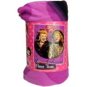 50X60 I Love Lucy Friends Forever Fleece Blanket Throw