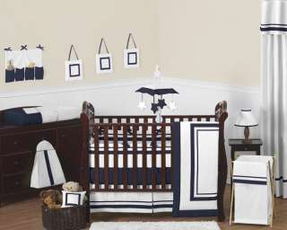 navy blue hotel baby collection 9pc crib bedding set hotel wh nv 9 fs