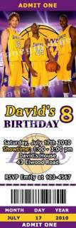 LA Lakers NBA Phoenix Suns Birthday Ticket Invitations