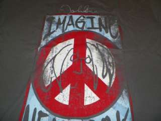 NEW John Lennon Beatles Shirt Imagine Peace New York 1972 Peace Tour