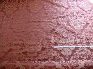 100% SILK DAMASK RAW TEXTURE FLORAL TERAROSE RED