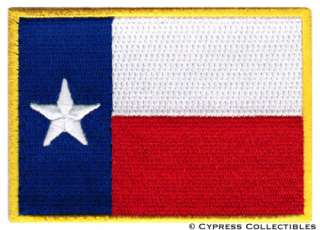TEXAS STATE FLAG PATCH EMBROIDERED IRON ON LONE STAR TX