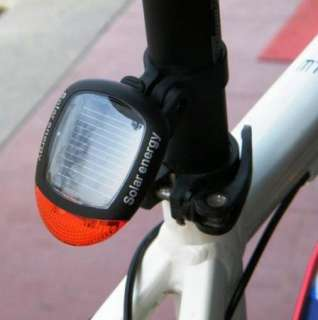 NEW LED Solar Power Bicycle Bike Rear Tail Lamp Light
