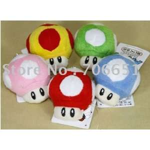 whole 2.5 super mario bros mushroom plush 200pcs/lot soft
