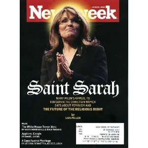 Newsweek June 21 2010 Sarah Palin on Cover (Saint Sarah