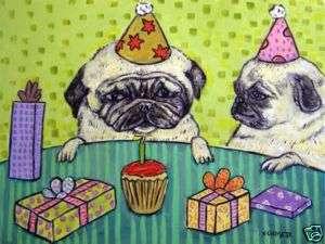 PUG birthday picture dog art Mug coffee cup 11 oz