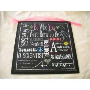 Born to Be Sign Wall Art Girls Bedroom Decor Teen Room