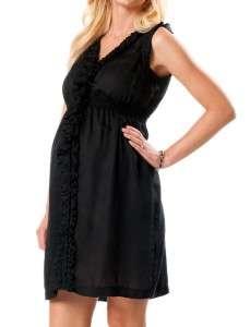 MOTHERHOOD MATERNITY xl BLACK SMOCKED RUFFLE DRESS