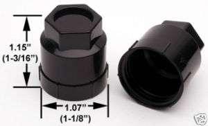 DUAL THREAD LUG NUTS + BLACK COVERS 24PCS 12mm x 1.50