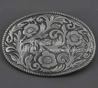 Flower Floral Scroll Metal Belt Buckle Scroll Tribal Tattoo Art