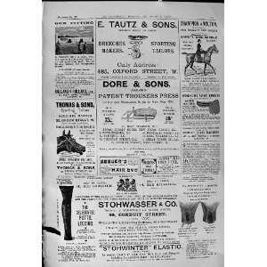 1900 Advertisement Tautz Tailors Dore Stohwasser Beechams Pills Benson