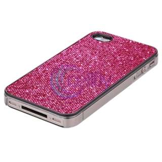 Pink Bling Case Cover+Privacy Pro+Pen For iPhone 4 s 4s 4th Gen 16G