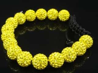 Mens Womens Swarovski Crystal Bracelet Black,Yellow & Black & White