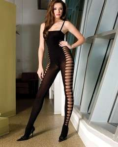 Body Stocking Hole Hose Tank Top Full Body Shaper Black Seamless
